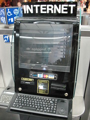 a public, pay-per-use internet terminal