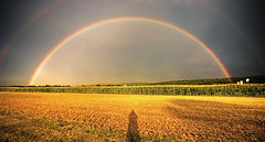 The Rainbow and the Photographer's Shadow (dfworks) Tags: sky rainbow farm pa hdr berkscounty naturesfinest 3xp photomatix sigma1020 outstandingshots superbmasterpiece