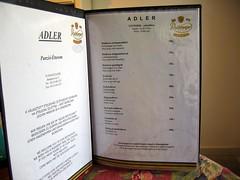 Adler menu