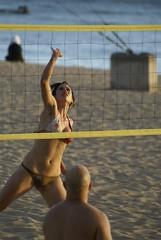 beach volleyball (Mark Ramelb Photography) Tags: woman usa beach hawaii athletic waikiki oahu bikini