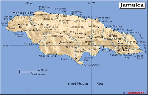 Jamaica: Tall mountains and beautiful beaches