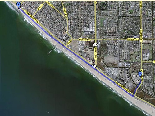 Our Bike Route at HB
