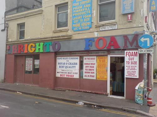 Brighton Foam, Vine Street