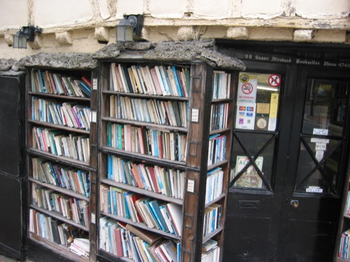 ageing bookshelves in lewes