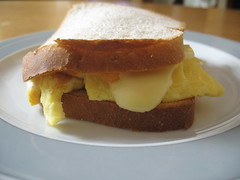 Egg and Cheese Sandwich (Fahad.m) Tags: paris egg sandwich microwave cheeses frence   toust