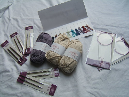 Knit Picks order (of course had to be at least $45 for free shipping!)