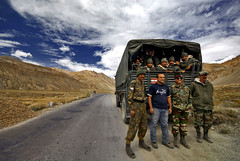 Ananth with the Indian Army soldiers