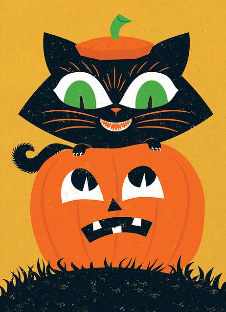 Cat in a Jack o' Lantern