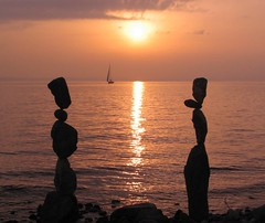 Sunset, Oct 5th (Heiko Brinkmann) Tags: sunset sculpture water germany landscape ilovenature deutschland evening sailing stones pebbles balance bodensee balancing rockbalancing lakeconstance beautyinlife pebblebalancing hickoree coolestphotographers