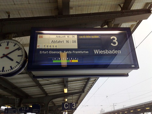Verspätung in Weimar