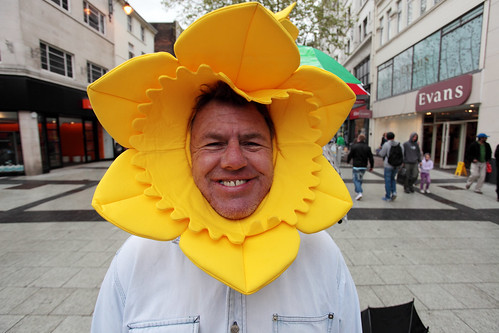 """Impossible not to smile when you encounter him on  Queen street.</p> <p>His quote, """"I'm a true clarks pie""""</p> <p>Legendary Cardiff Character</p> <p><a href="""