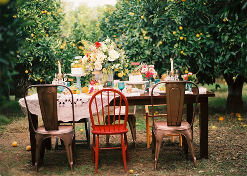 Outdoor Dinner Party The Style Files