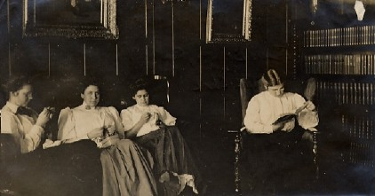 In the parlor at the turn of the century