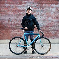 Angelo - Lower East Side (2) (Dmitry Gudkov) Tags: portrait bike bicycle track cyclist lowereastside brickwall fixedgear cannondale citybiker cityriding urbanriding bikenyc bikeportrait urbancycling citybiking citycycling urbancyclist bicycleportrait citycyslist