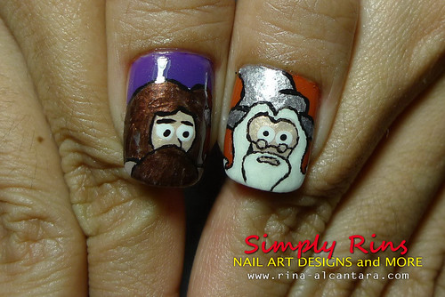 Nail Art Harry Potter Characters 05