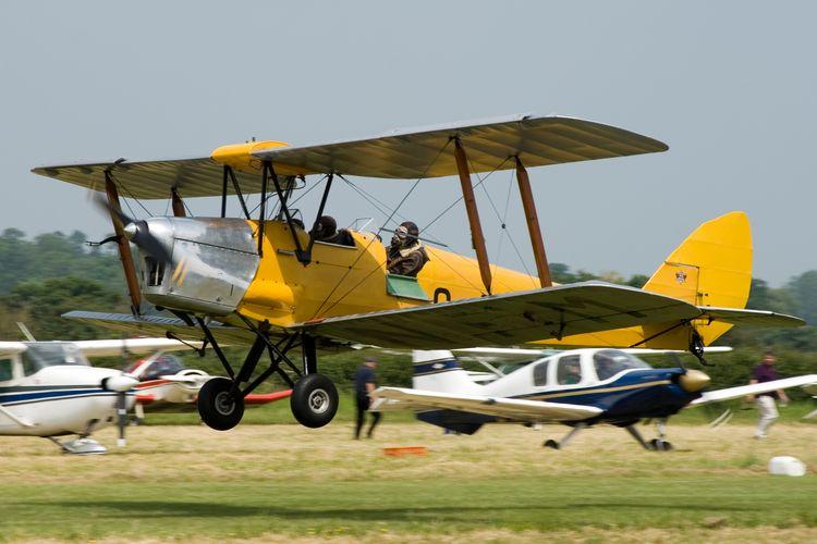 Biplane Landing