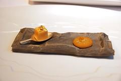 Bombones de mandarina, cacahuete y curry
