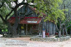 Luckenbach Post Office posterized