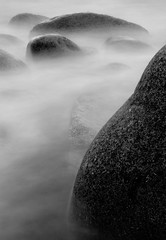 Immersion (Parcelpacker) Tags: longexposure sea beach surf boulders