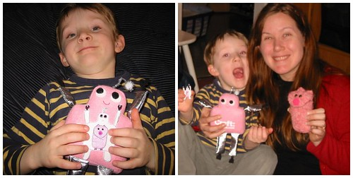 me and Julian with Pink Craftie