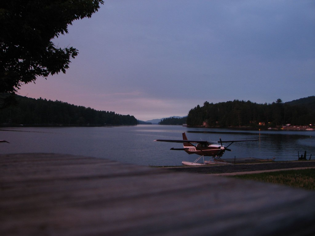 Long Lake, New York, at dusk