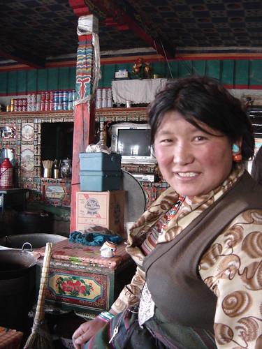 Sonriente tibetana Tashi dzom