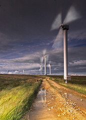 Shooting the Breeze (Vintage Red) Tags: motion reflection weather landscape photographer power wind yorkshire excellent awards halifax breeze windturbine windfarm piratetreasure anawesomeshot colorphotoaward megashot