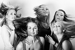 swing (sigrun th) Tags: girls friends bw favorite cute hair fun happy blackwhite moving cool nice movement perfect funny sweet expression five awesome great group move swing excellent genius conceptual capture brilliant icelandic terrific chercherlafemme conceptualized