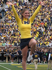 Cheer (bekahlp) Tags: football cheerleaders annarbor notredame bighouse universityofmichigan wolverines collegefootball big10