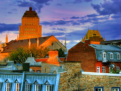 Sunset over Quebec city (Nino H) Tags: city sunset canada eye price skyline architecture buildings hotel searchthebest quebec qubec chateau hdr ville immeuble coucherdesoleil vieuxqubec frontenac difice photoquebec glisestpatrick