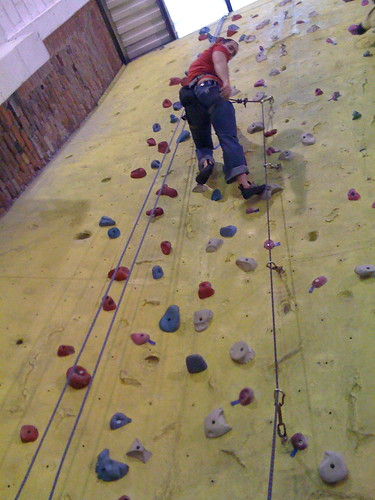 dave lead climbing