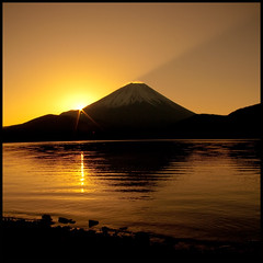 Lake Motosu (TheJbot) Tags: lake reflection japan sunrise  uc yamanashi jbot lightroom motosu motosuko  elitephotography thejbot