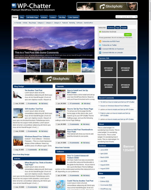 WP Chatter   SoloStream WordPress Theme