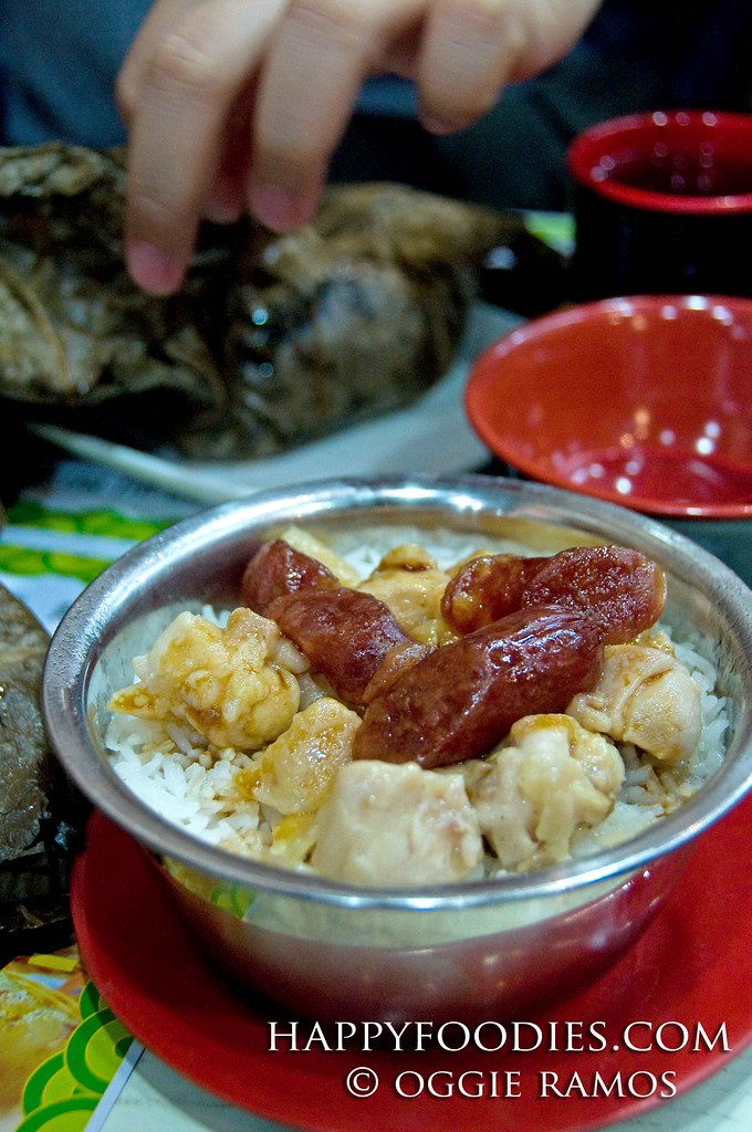 Steamed Rice with Chicken and Preserved Meat