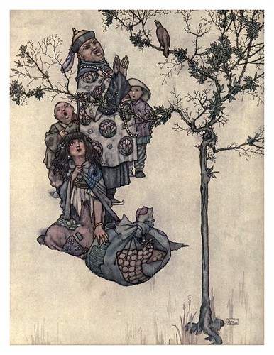 016-El ruiseñor-Hans Andersen's fairy tales (1913)- William Heath Robinson