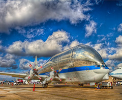 "NASA ""Super Guppy"" (HDR) (J.R.Photography) Tags: field station plane canon airport texas space tx transport nasa airshow shuttle 7d hdr 747 ellington superguppy wingsoverhouston 377sg201"