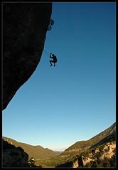 Deep blue diving (Laurent Filoche) Tags: france silhouette nikon rockclimbing escalade jeanreno lucbesson legrandbleu bonzography saintlgerduventoux ericsiguier outdoorportfolio
