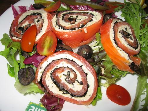 salmon cheese salad