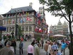Another view of the flag building (josephlogan) Tags: beer joseph belgium antwerp ronya