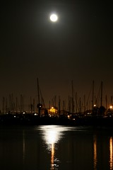boats' reflection (terri_lg) Tags: california longexposure water night cityscape sandiego fullmoon existinglight moonillusion spanishlanding terrigreen terrilg