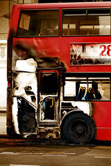 28 Weeks Later - For Real (Flying Fin) Tags: bus london burnt melted burntout supershot mywinners 28weekslater superbmasterpiece colourartaward 03explore130707