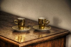 coffee cup (Bunshee) Tags: wood cup tasse coffee table gold kaffee cups tisch holz hdr highdynamicrange holztisch kaffeetassen kaffeetasse woodentable photomatix favorites5 photomatixpro views100 views200 views400 views300 canonefs1785mmf456isusm myfirsthdr firsthdr hdrhdr hdrunlimited canoneos400d 123hdr hdrnolimit mygearandme mygearandmepremium ringexcellence