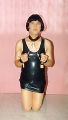 Suzie-N09 (suziemoon_99) Tags: fetish tv bondage sissy transvestite crossdresser crossdress submissive rubberdress