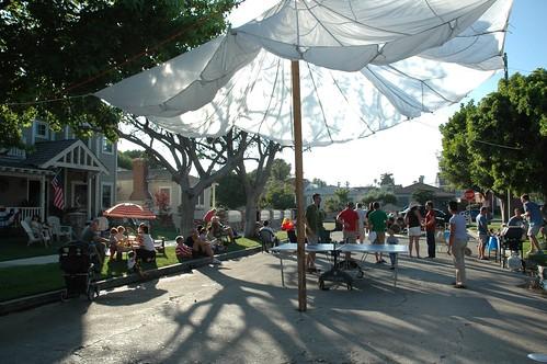 Clune Ave block party venice beach