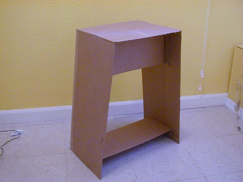 Cardboard end table