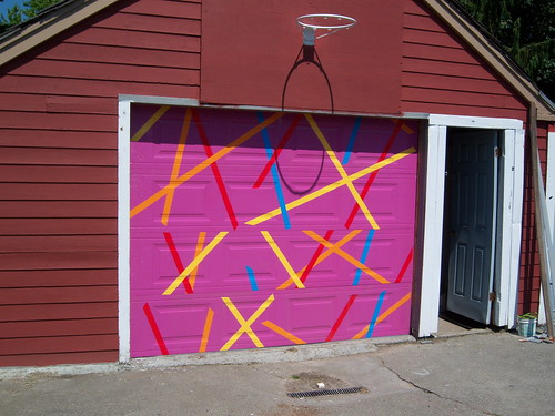 our new garage door - needs paint