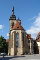 Backside of Stiftskirche (Xerxes2K) Tags: church germany deutschland stuttgart kirche stiftskirche badenwrttemberg