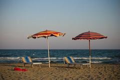 End of summer (2darkwings) Tags: venice beach parasol venezia spiaggia adriaticsea cavallino ombrellone blueribbonwinner canonpowershots70 goodbyesummer treporti abigfave aplusphoto