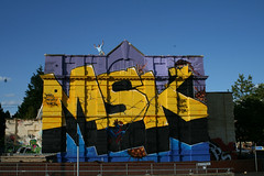 Aroe MSK (Tatty Seaside Town) Tags: graffiti kent brighton graf msk ashford notag aroe july2007 tattyseasidetown