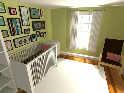 Nursery with Fresh Cut Grass walls Nursery with Limelight walls